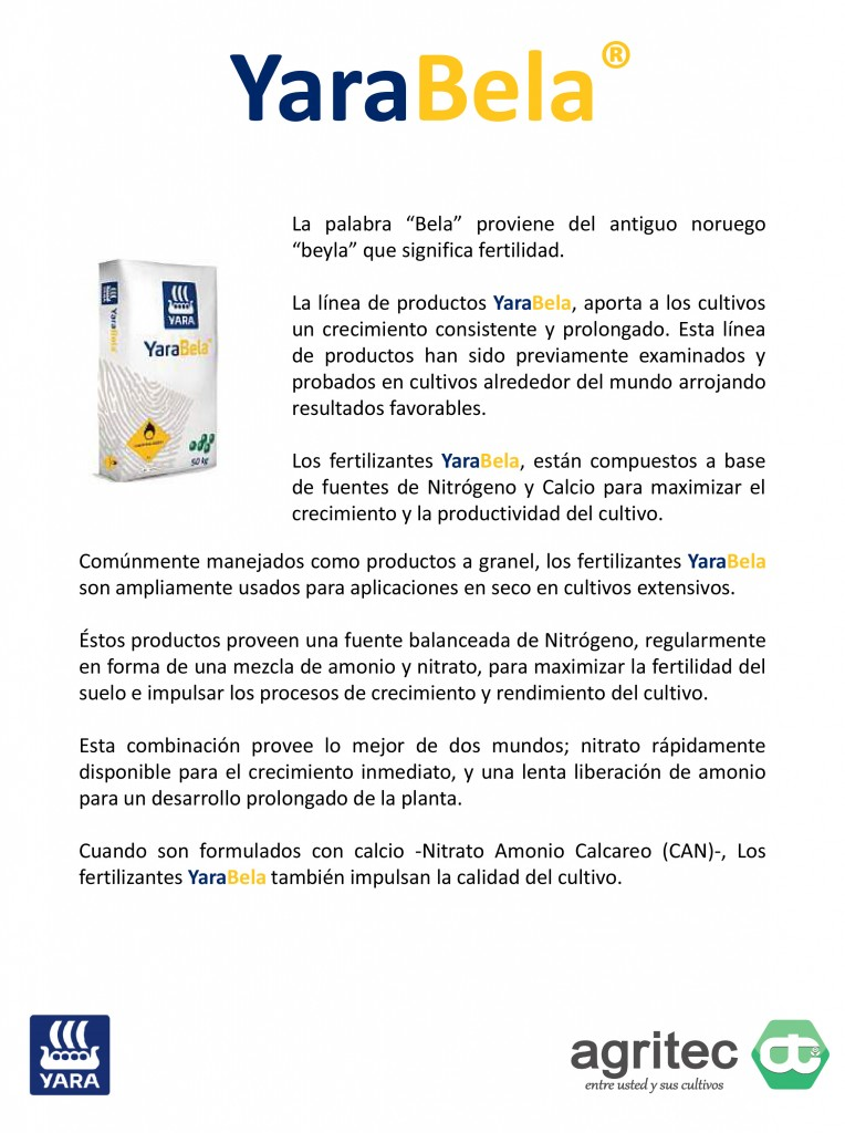 Microsoft PowerPoint - Productos Yara Agritec - YaraBela 2