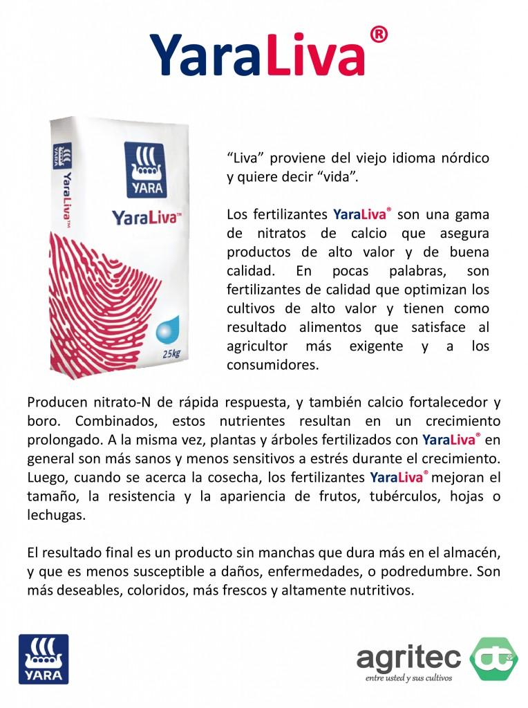 Microsoft PowerPoint - Productos Yara Agritec - YaraLiva 2