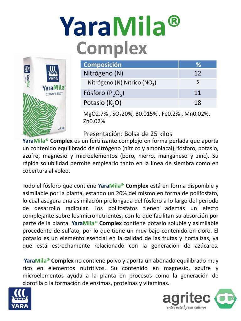 Microsoft PowerPoint - Productos Yara Agritec - YaraMila 2